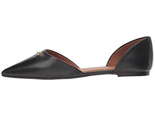 Coach Pointed Leather Black Flats Image 3