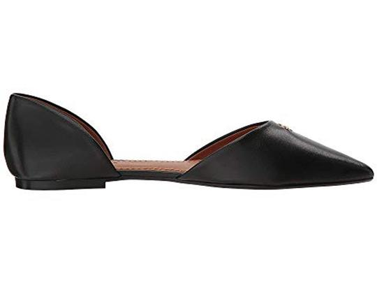 Coach Pointed Leather Black Flats Image 5