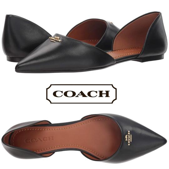 Coach Pointed Leather Black Flats Image 7