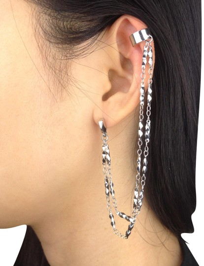 Preload https://img-static.tradesy.com/item/24374070/bcbgeneration-silver-toned-ear-cuff-double-chain-stud-studded-earrings-0-1-540-540.jpg