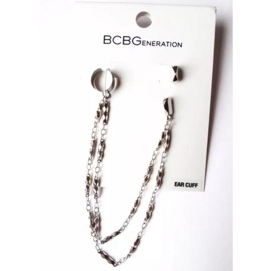 BCBGeneration Toned Ear cuff double chain stud studded Image 3