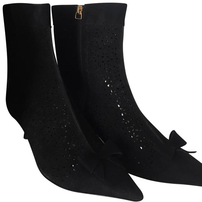 Item - Black Laser Cut Out Ankle Boots/Booties Size US 9.5 Regular (M, B)