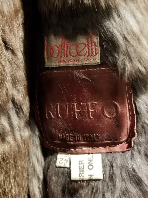 Botticelli Fur Fur Fur Lined Silver Leather Jacket Image 1