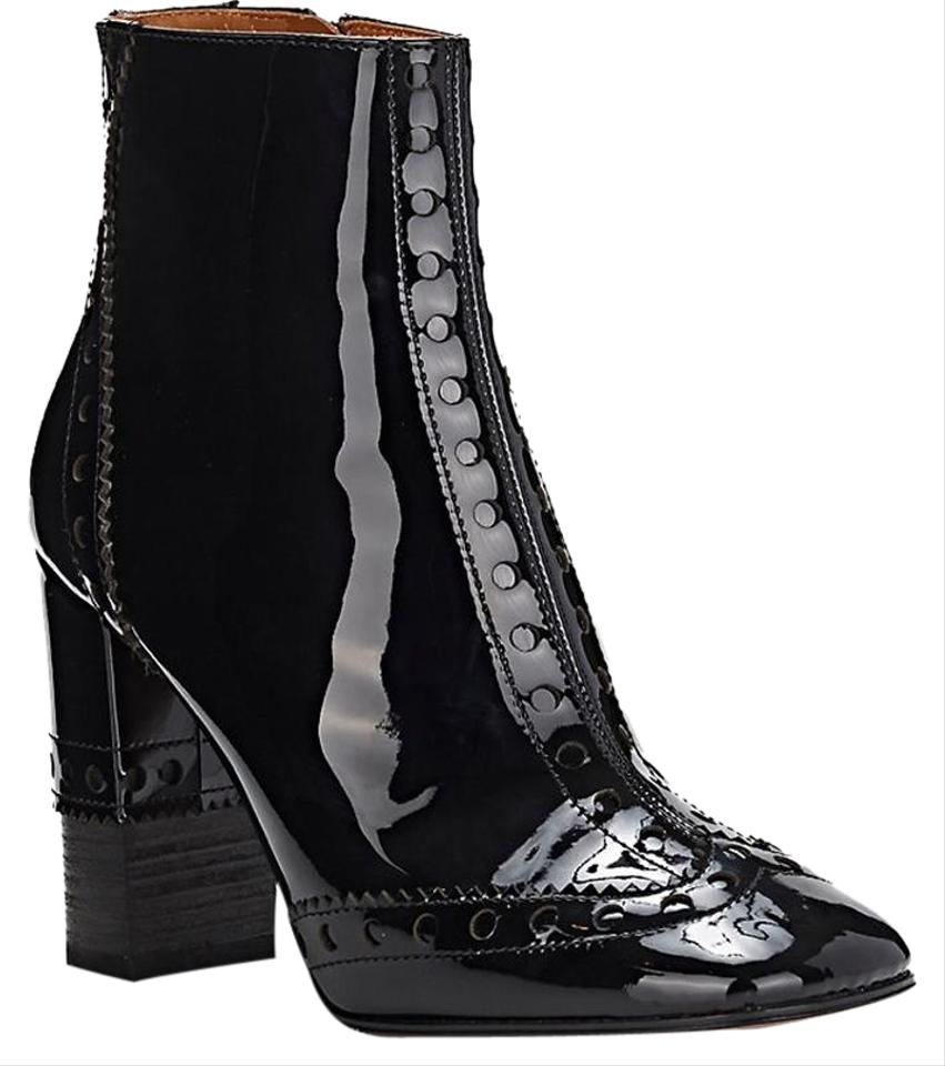 313736fa148 Chloé Black Perry Patent Leather Ankle Boots/Booties Size EU 37.5 ...