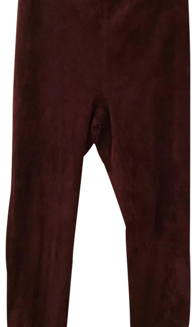 Preload https://img-static.tradesy.com/item/24374204/vince-bordeaux-stretch-suede-leggings-size-12-l-32-33-0-1-650-650.jpg