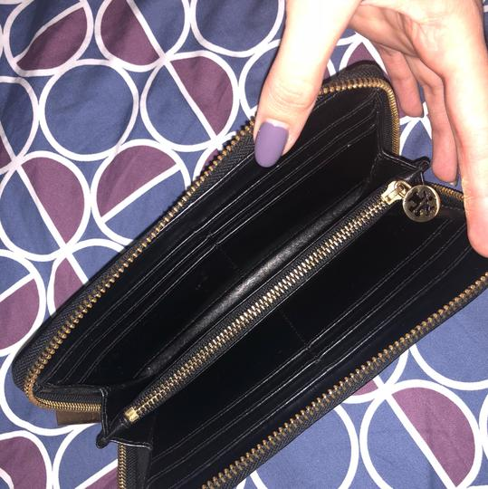 Tory Burch Women's Black Embossed Lux Patent Leather Continental Wallet