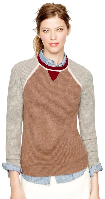 Preload https://img-static.tradesy.com/item/24374215/jcrew-collection-cashmere-colorblock-waffle-beige-and-burgundy-sweater-0-4-650-650.jpg