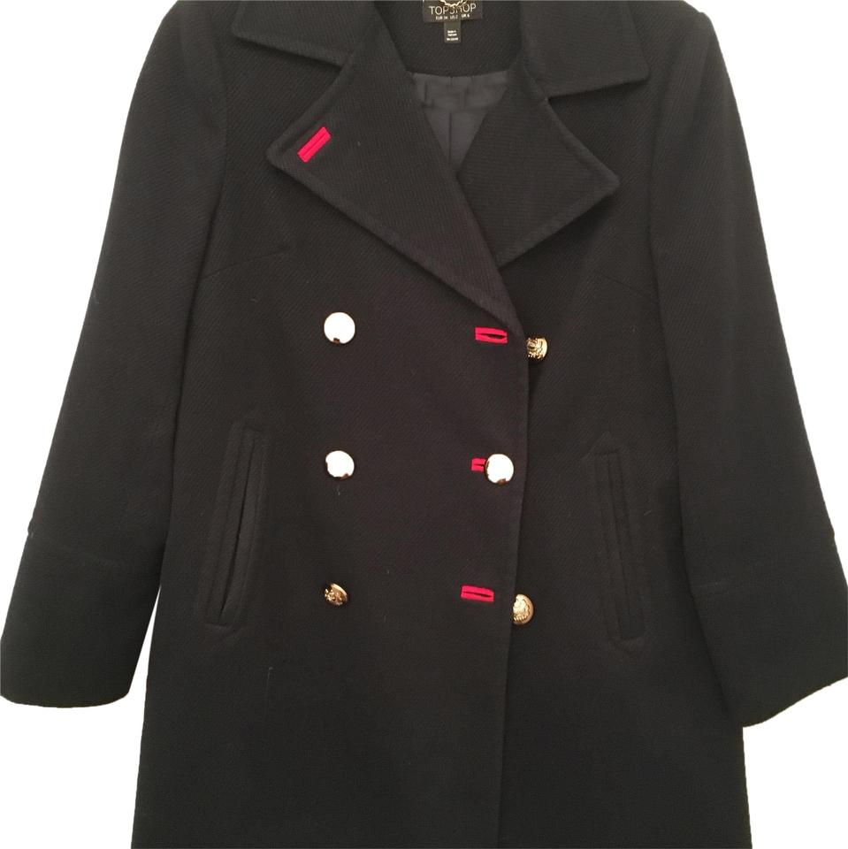 39b58df48 Topshop Navy with Red Not Available Coat Size 4 (S) 43% off retail