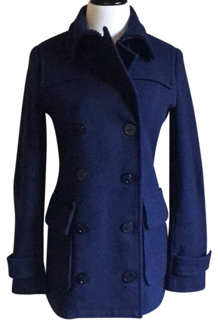 Item - Navy Double Breasted Coat Size 4 (S)
