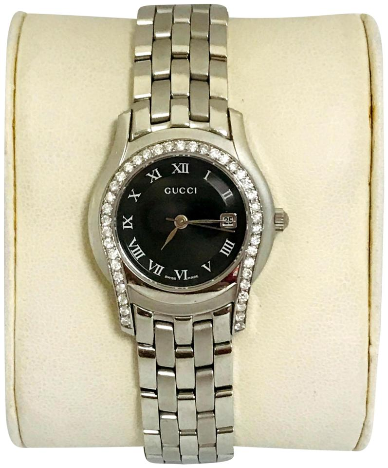 0f47f9a933d Gucci 0.60ct Diamond Gucci 5500M U Gucci Stainless Steel Unisex Gucci Watch  Image 0 ...