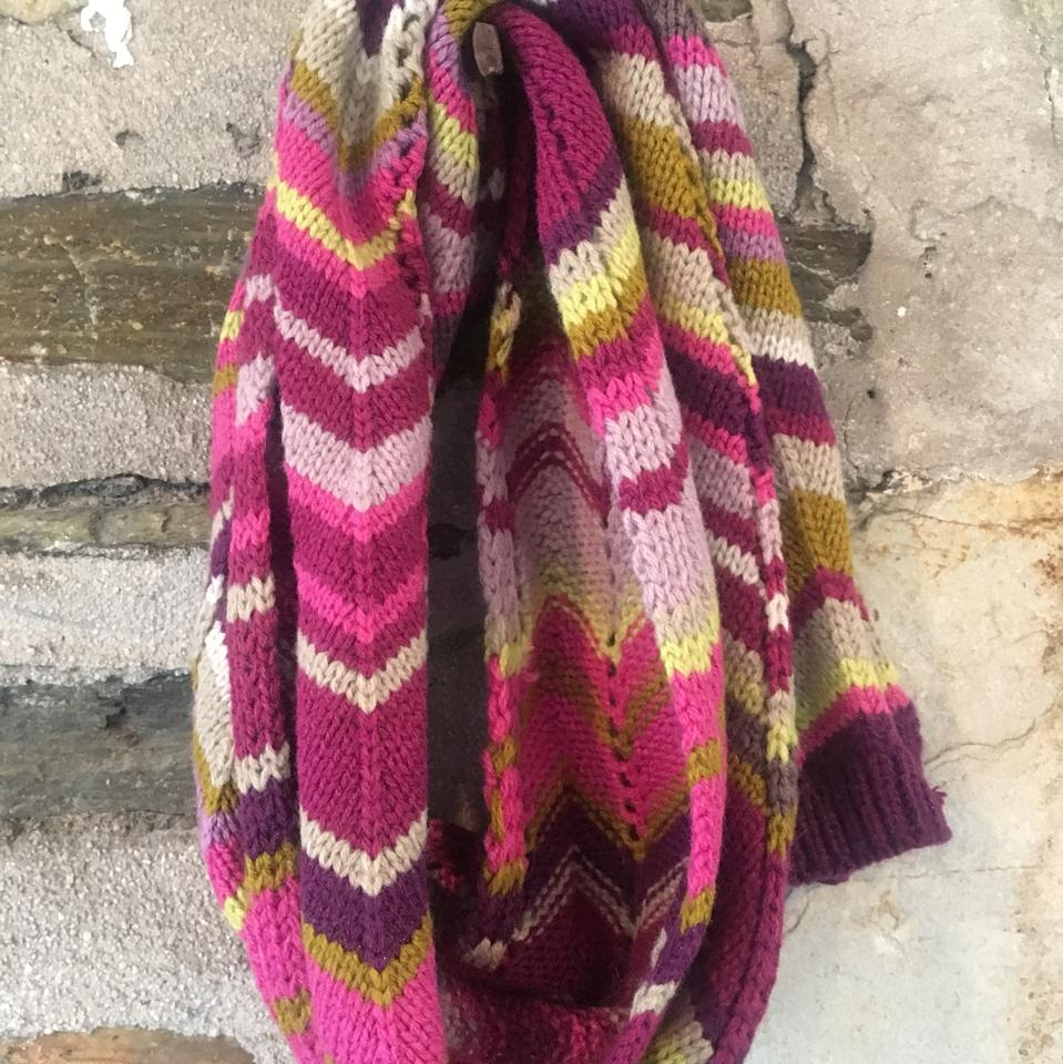 5cd3bd5630 Missoni for Target Missoni x Target Skinny Knit Scarf W  Pink Purple Chevron.  12345