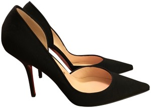 a44c2bb0048 Christian Louboutin Black Let s Go Arianna Fabric Pumps Size US 9 ...