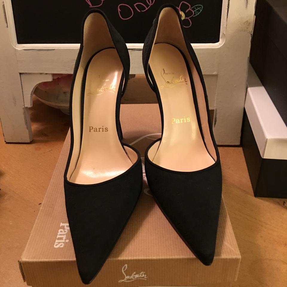 6e176c717053 Christian Louboutin Black Let s Go Arianna Fabric Pumps Size US 9 ...