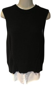 Brochu Walker Wool Cashmere Layered Sleeveless Sweater