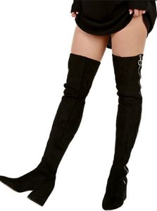 Dolce Vita Suede Thigh High Black Boots
