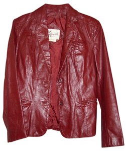 BERMAN. LEATHER JACKET Berman BURGANDY Leather Jacket