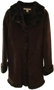Larry Levine Faux Shearling Warm Pea Coat