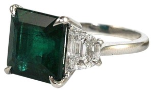 Other GIA Square Emerald & Diamond Solitaire Ring Platinum 8.73Ct Untreated