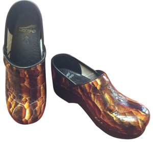 Dansko Gold/Brown Mules