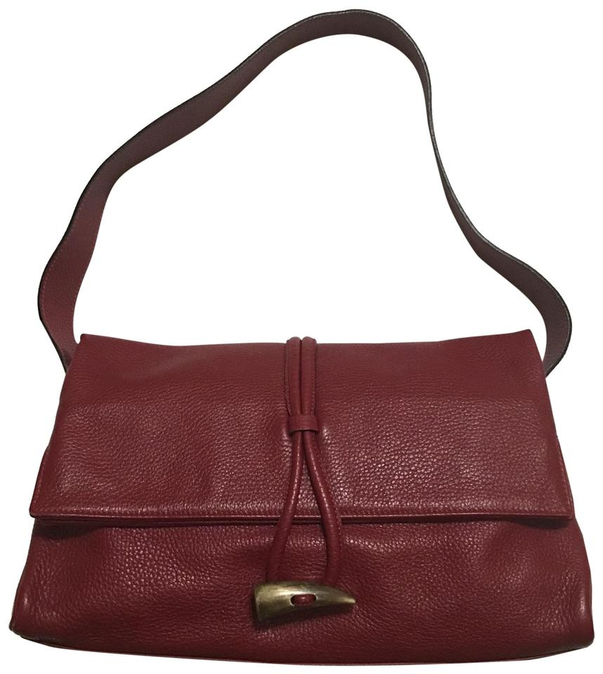 37ae16f93a74 Burberry London Horn Toggle Burgundy Leather Shoulder Bag - Tradesy