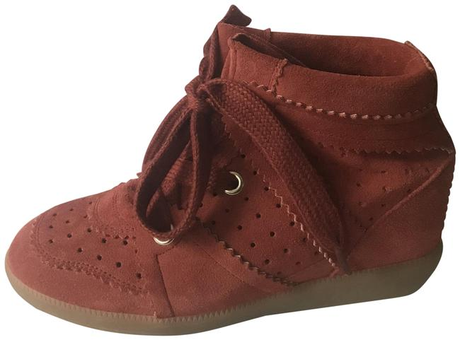 Item - Faded Red Bobby Perforated Suede Wedge Sneakers Ankle Boots/Booties Size EU 36 (Approx. US 6) Regular (M, B)