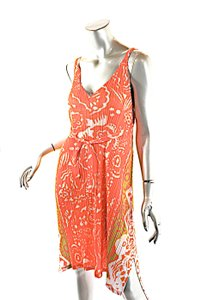 Issey Miyake short dress Orange Pleats Please Melon Print on Tradesy