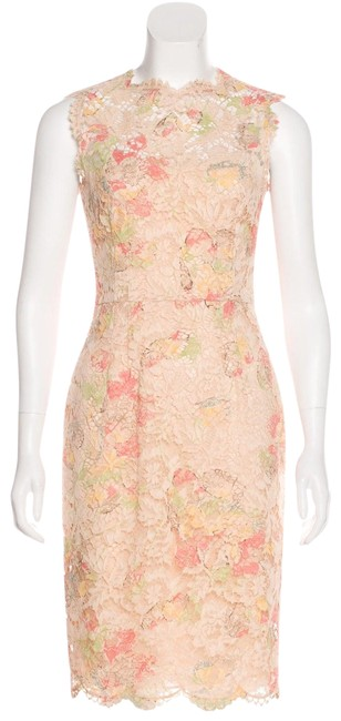 Valentino Nude Peach Mid-length Cocktail Dress Size 8 (M) Valentino Nude Peach Mid-length Cocktail Dress Size 8 (M) Image 1