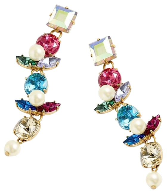 Item - Multicolor Crystals and Pearls Drops Bracelet