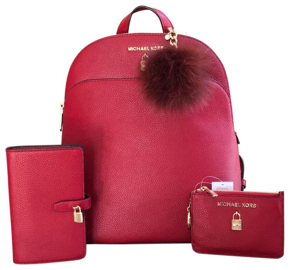 24ff4c1b65c1 france lyst michael michael kors junie leather backpack burgundy in red  e2522 ddde1; new zealand michael kors backpack 83dd7 4fdc3
