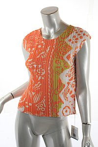 Issey Miyake Pleats Please Melon Print Sweater