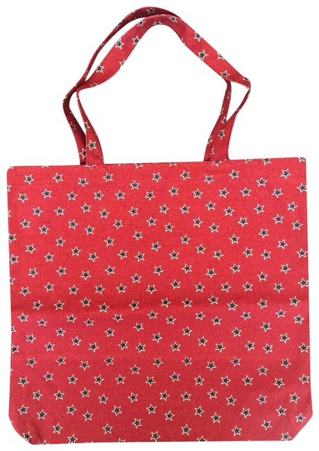 Item - Shopping Blue Reusable Everyday In Star Red Navy Canvas Tote