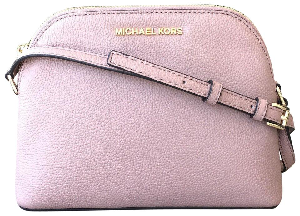 50c046c6234f Michael Kors Adele Medium Dome Emmy Cindy Pink Leather Cross Body Bag