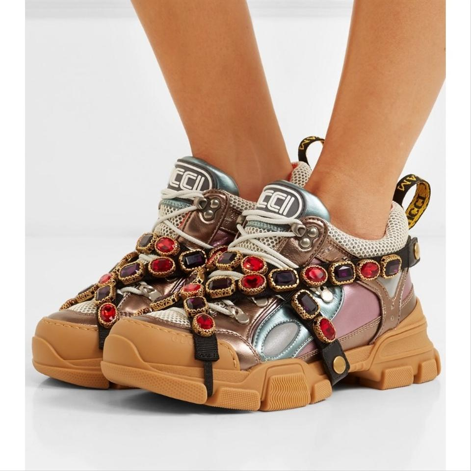 d989a7d9ef7 Gucci Flashtrek Sneakers with Removable Crystals Sneakers Size US 10 ...