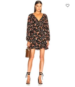 A.L.C. short dress Black & Floral Multicolor on Tradesy