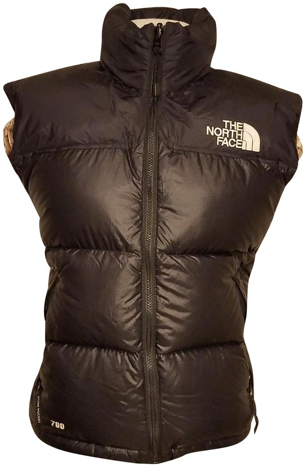 The North Face Black Woman Down Hooded Jacket 700 Nylon S P Vest ... 2e2fd1ad6