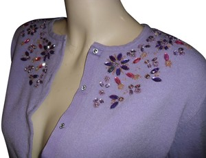 George Jewels Jewels Swarovski Trim Swarovski Buttons Jewel Buttons Cardigan