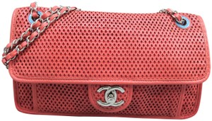 Chanel In The Air Calfskin Perforated Shoulder Bag