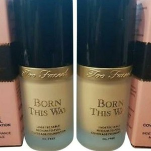 Too Faced Born This Way Foundation in shade Ivory or porcelain. Face makeup/Cosmetics