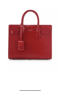Saint Laurent Sac De Jour Croc Nano Cross Body Bag