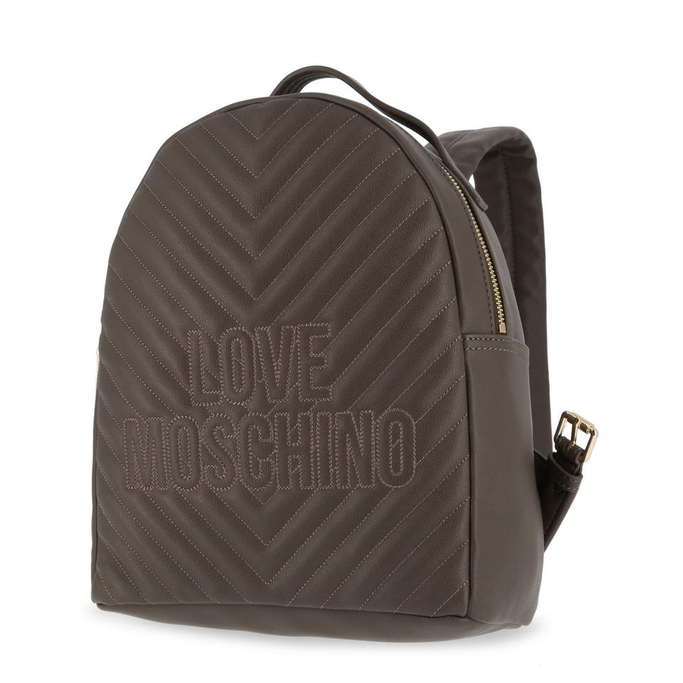 77f936296adc Love Moschino With Logo Brown Backpack - Tradesy
