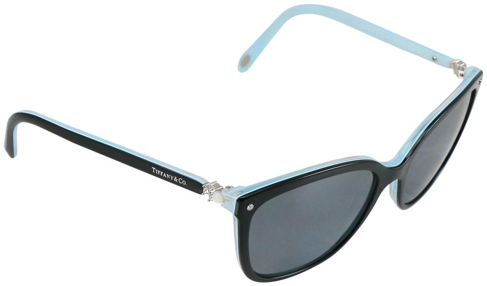 66f9e3e1b85 Tiffany   Co. Black   Blue Grad Square Aria Collection   Tf 4105-h-b  Sunglasses