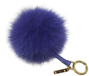 Fendi Blue Fendi fox fur pom-pom bag charm