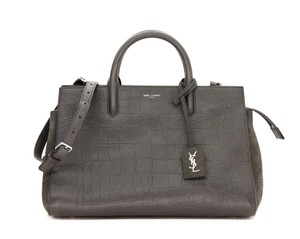 Saint Laurent Shoulder Tote Hand Satchel in Grey