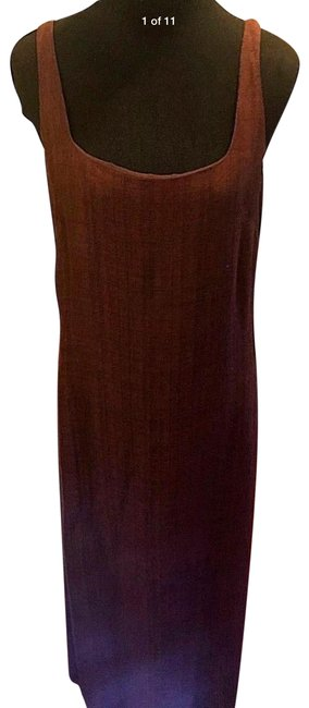 Item - Red Rayon Blend Burgundy Sleeveless Long Casual Maxi Dress Size 14 (L)