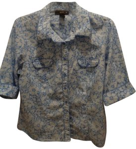 Venezia by Lane Bryant Button Down Shirt blue