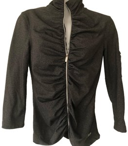 Bebe Sport Bebe Sport Charcoal Stretched Rouched Jacket