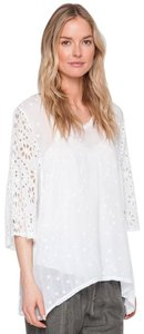 Johnny Was Sheer Fabric Custom Embroidery Relaxed Fit High Low Hem Tunic