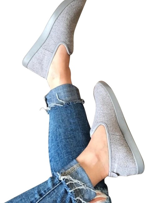 Item - Gray All Wool Slip On Loungers Flats Size US 9 Regular (M, B)