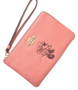 Coach Wallet Leather F30004 Wristlet in Pink
