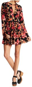 Free People short dress Black red on Tradesy